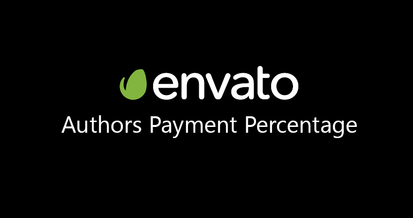 Envato Author Rates Percentage Table