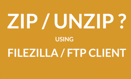 Zip and Unzip files with FTP client/Filezilla