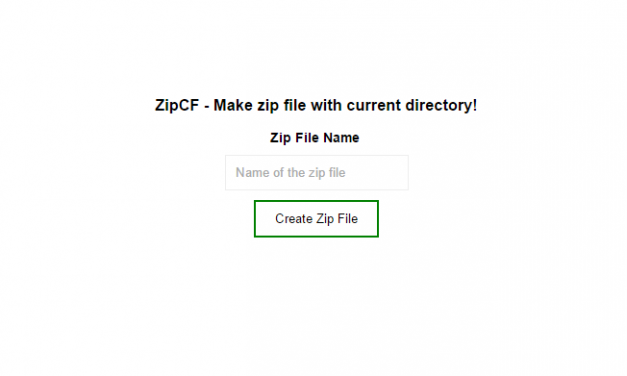 Create Zip file with content of current Directory with php – ZipCF