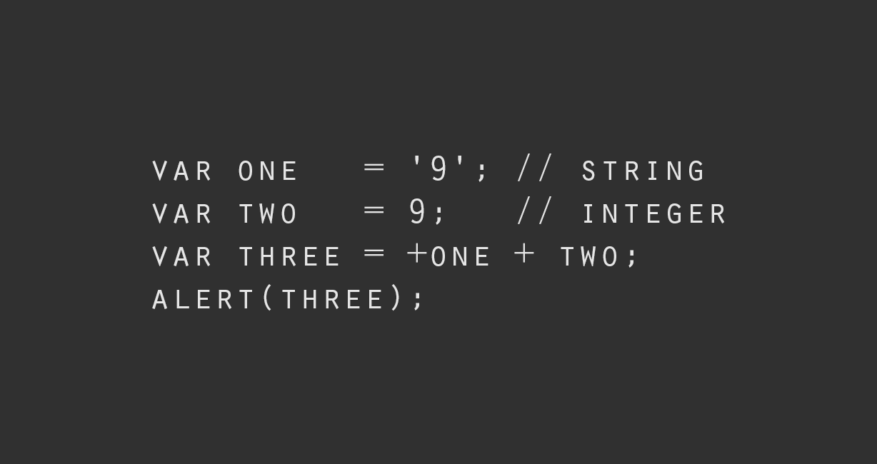 Ways to convert a string variable to integer in Javascript