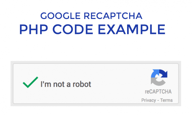 Example code of Google Recaptcha implementation with php curl