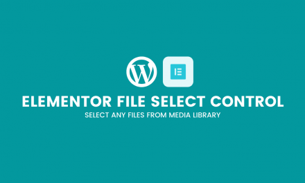 Elementor file select control