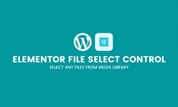Elementor file select control